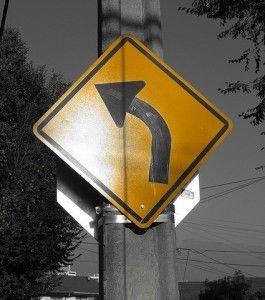 materia prima en señal transito