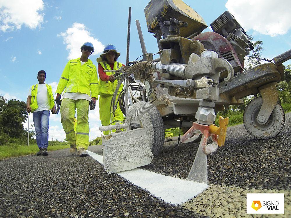 pintura de tráfico acrílica base de agua