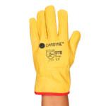 guante de cuero driver amarillo